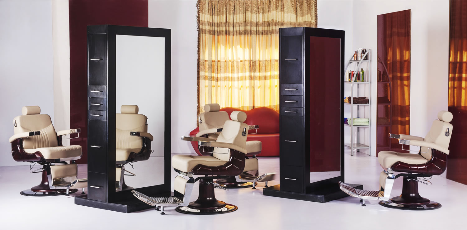 Tahiti double sided styling station salon styling for Salon stations