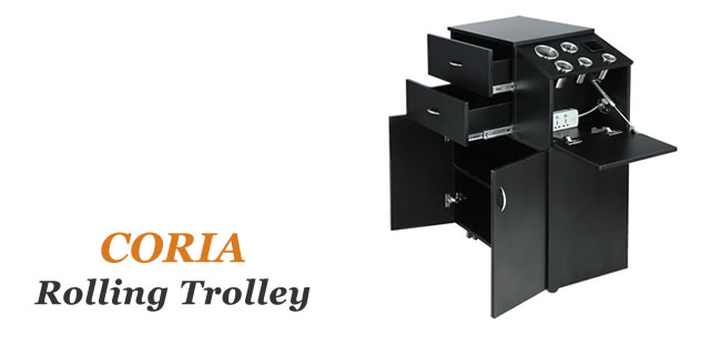 Coria Beauty Salon Carts, Beauty Salon Trolleys, AGS Salon Equipment Wholesalers