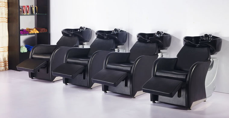 salon shampoo bowls, shampoo chairs, sinks & backwash units