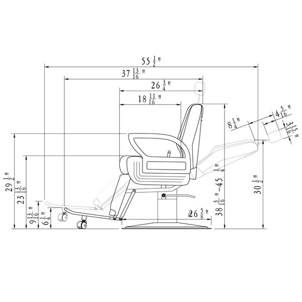 Barber chairs drawing -  Caesar Barber Chair With Heavy Duty Pump 2 Colours Free Shipping