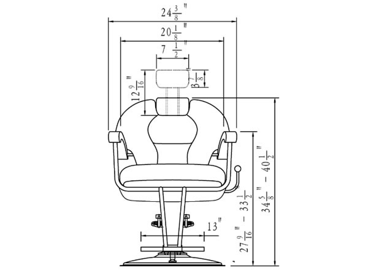 Barber chairs drawing -  Katherine Unisex Barber Chair Free Shipping