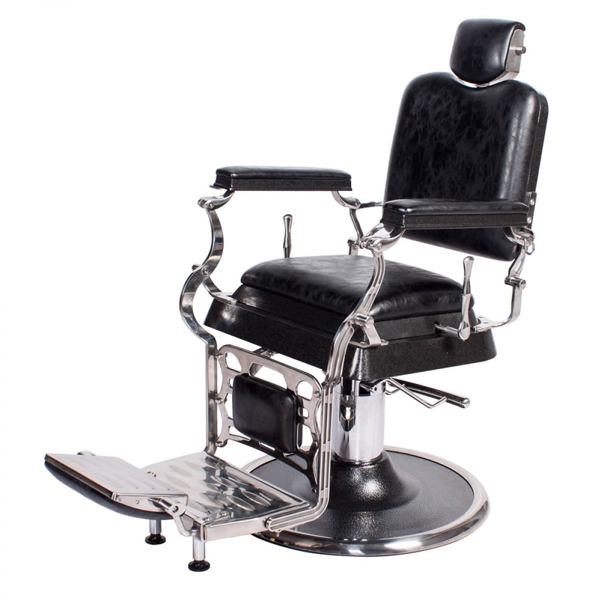 Old Barber Chairs >> Emperor Barber Chair In Antique Black Barber Shop Furniture