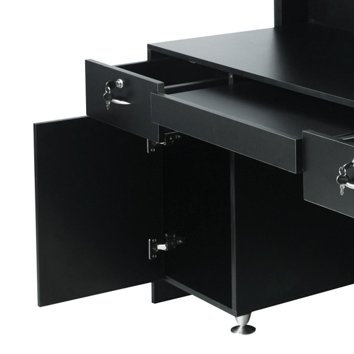 Delamere Salon Reception Desk Matte Black Free