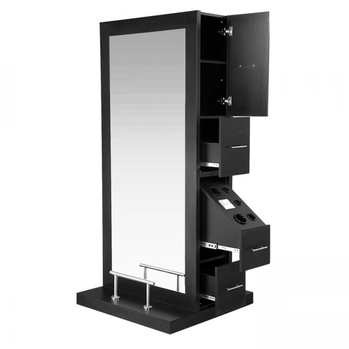 Crete Double Sided Salon Station Salon Equipment Salon Furniture