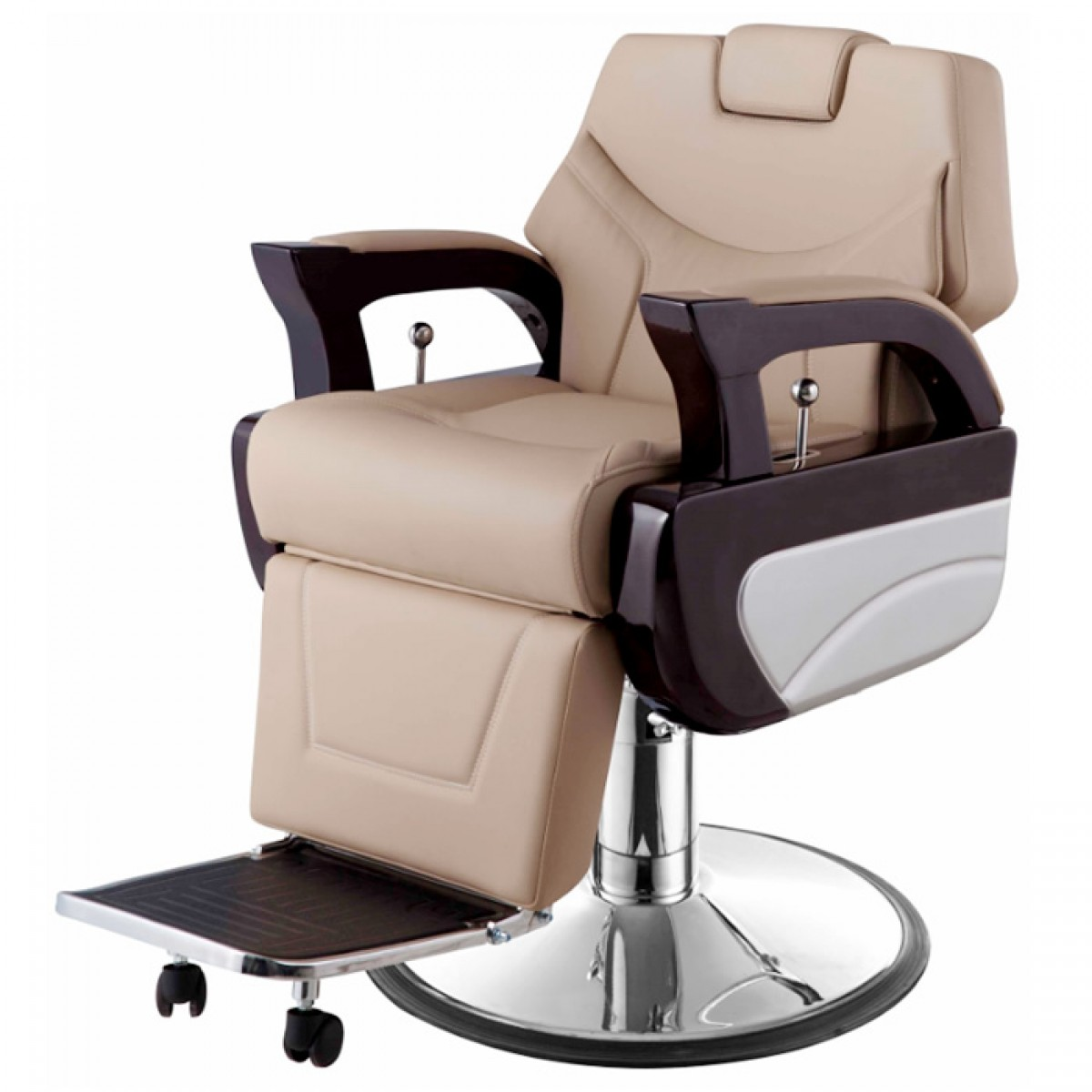 augusto barber shop chair in khaki
