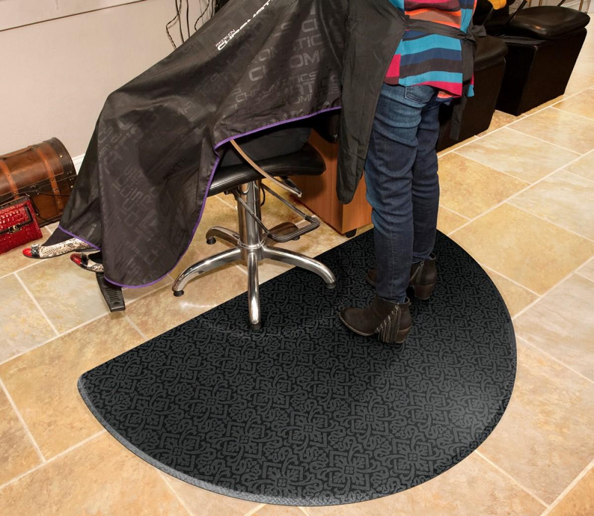 Salon decor floor mats made in usa 3 year warranty for A m salon equipment