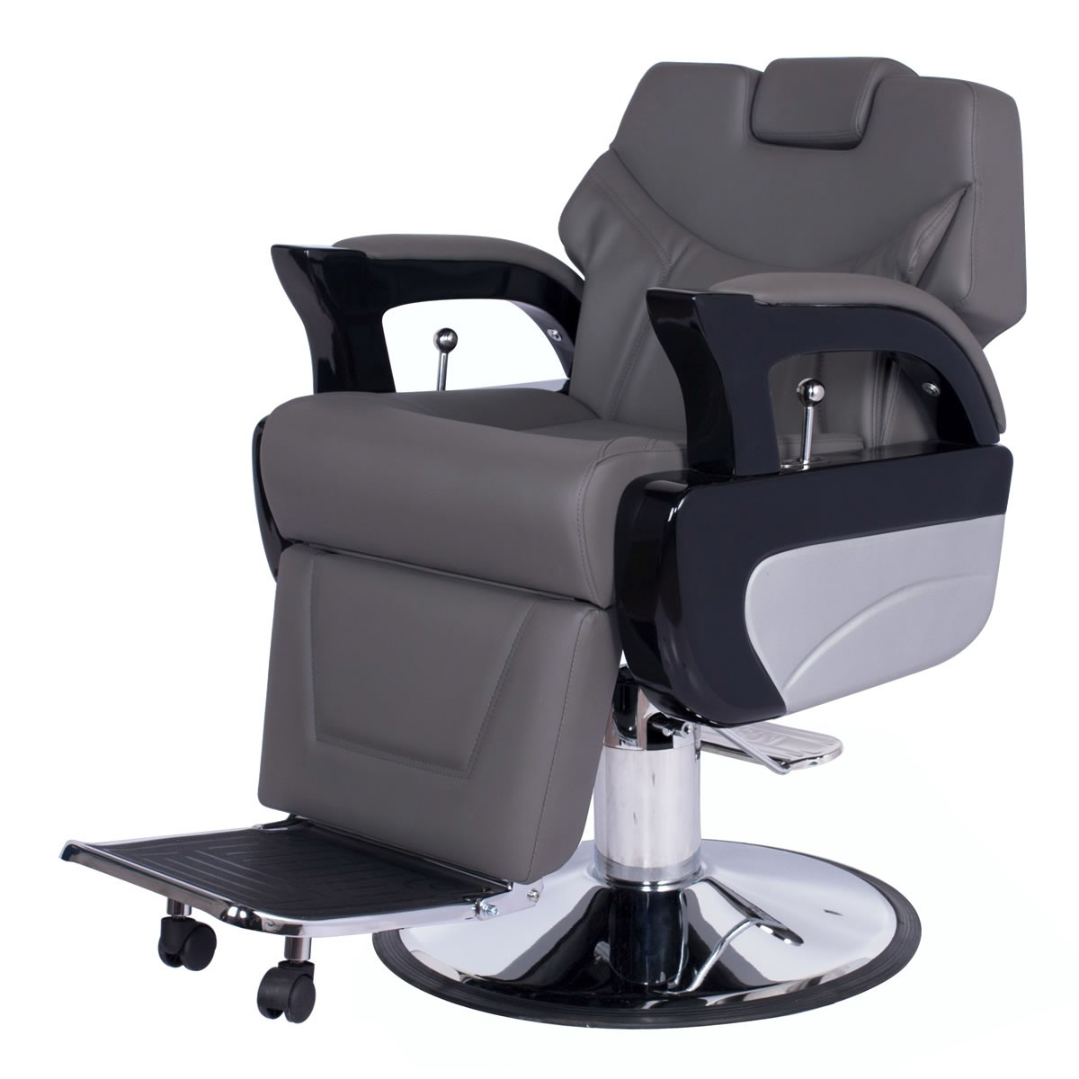 """AUGUSTO"" Heavy Duty Barber Chair in Grey, Grey Barber Chairs, Grey Barbershop Chairs"