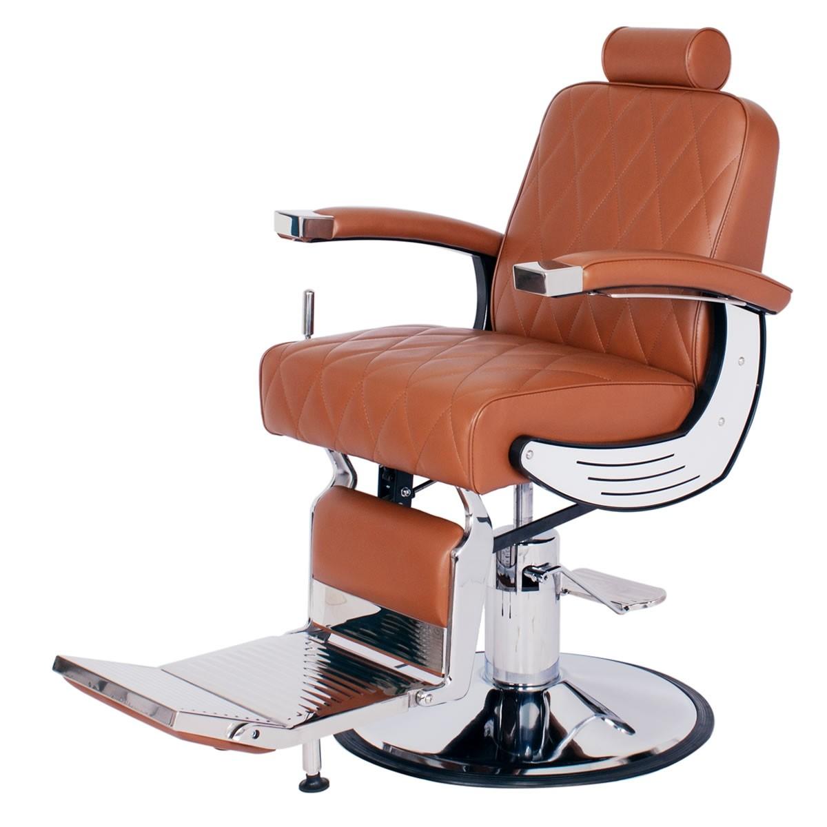 """BARON"" Heavy Duty Barber Chair in Chestnut"