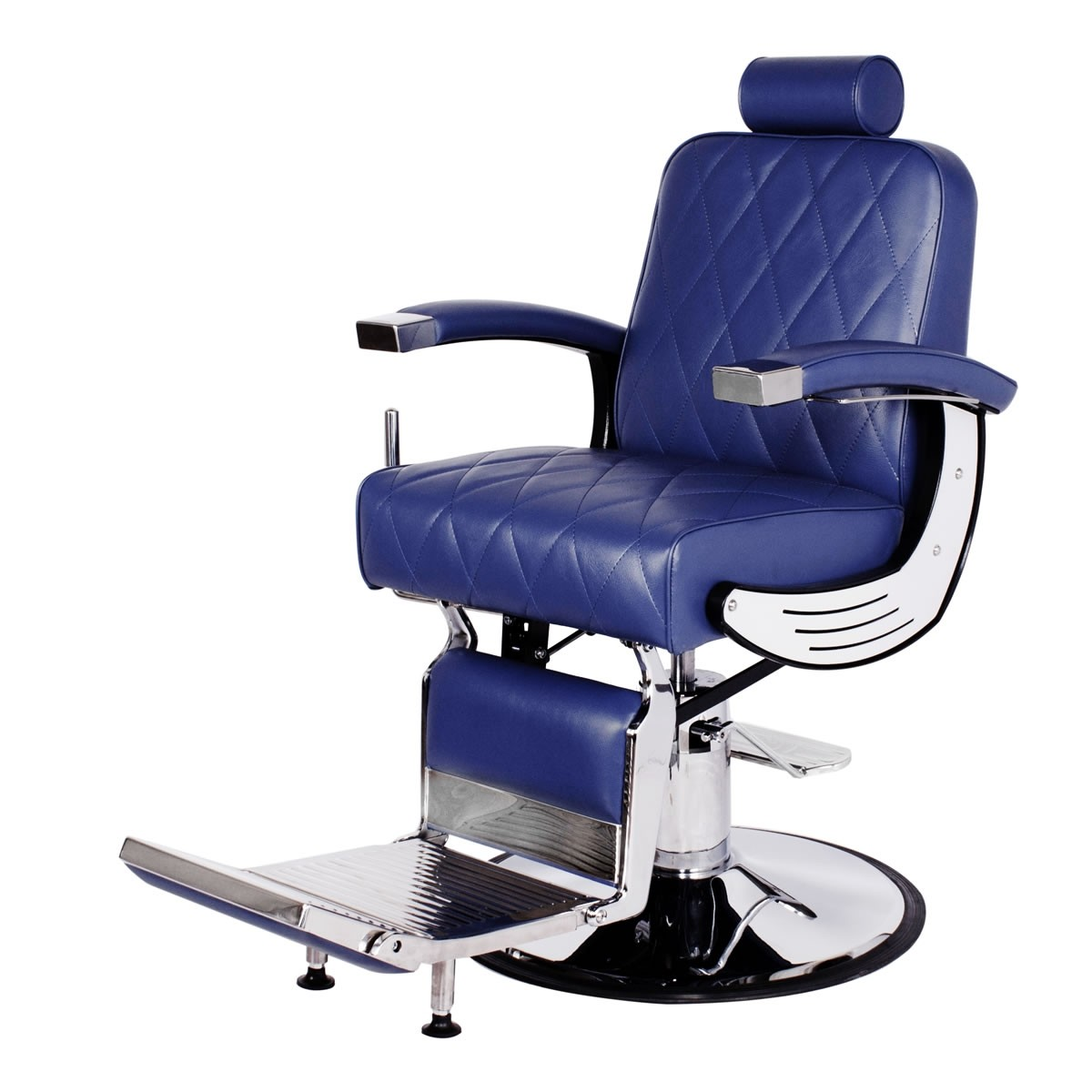 """BARON"" Heavy Duty Barber Chair in Royal Blue, Blue Barber Chair, Blue Barbershop Chairs"