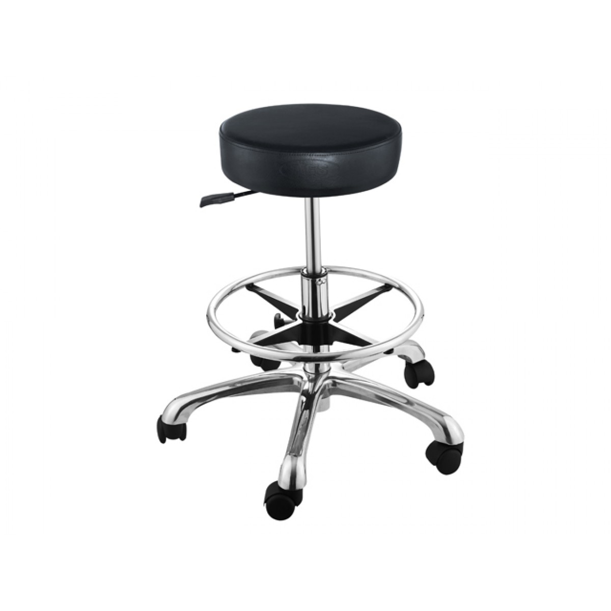 """AMY"" Hair Salon Stool with Cast Alloy Base (foot-ring)"