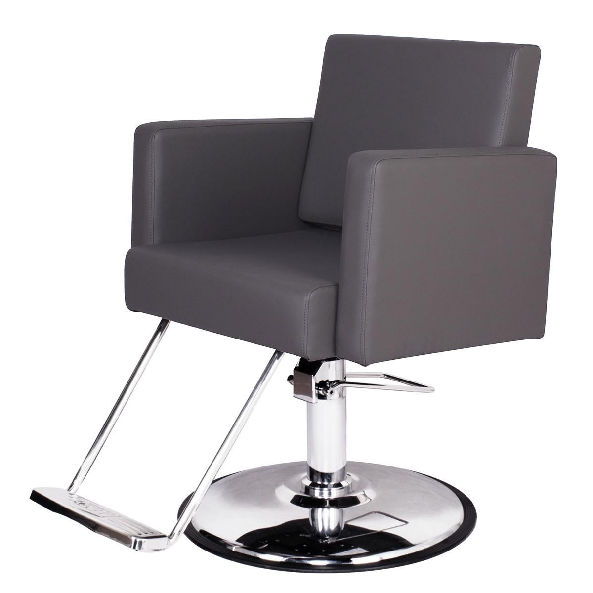 """CANON"" Grey Salon Chair, Grey Styling Chair, Grey Hair Salon Chairs"