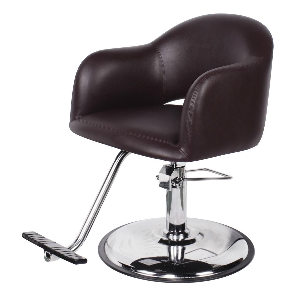 """AVILA"" Brown Salon Chair, Brown Styling Chair, Brown Hair Stylist Chair"