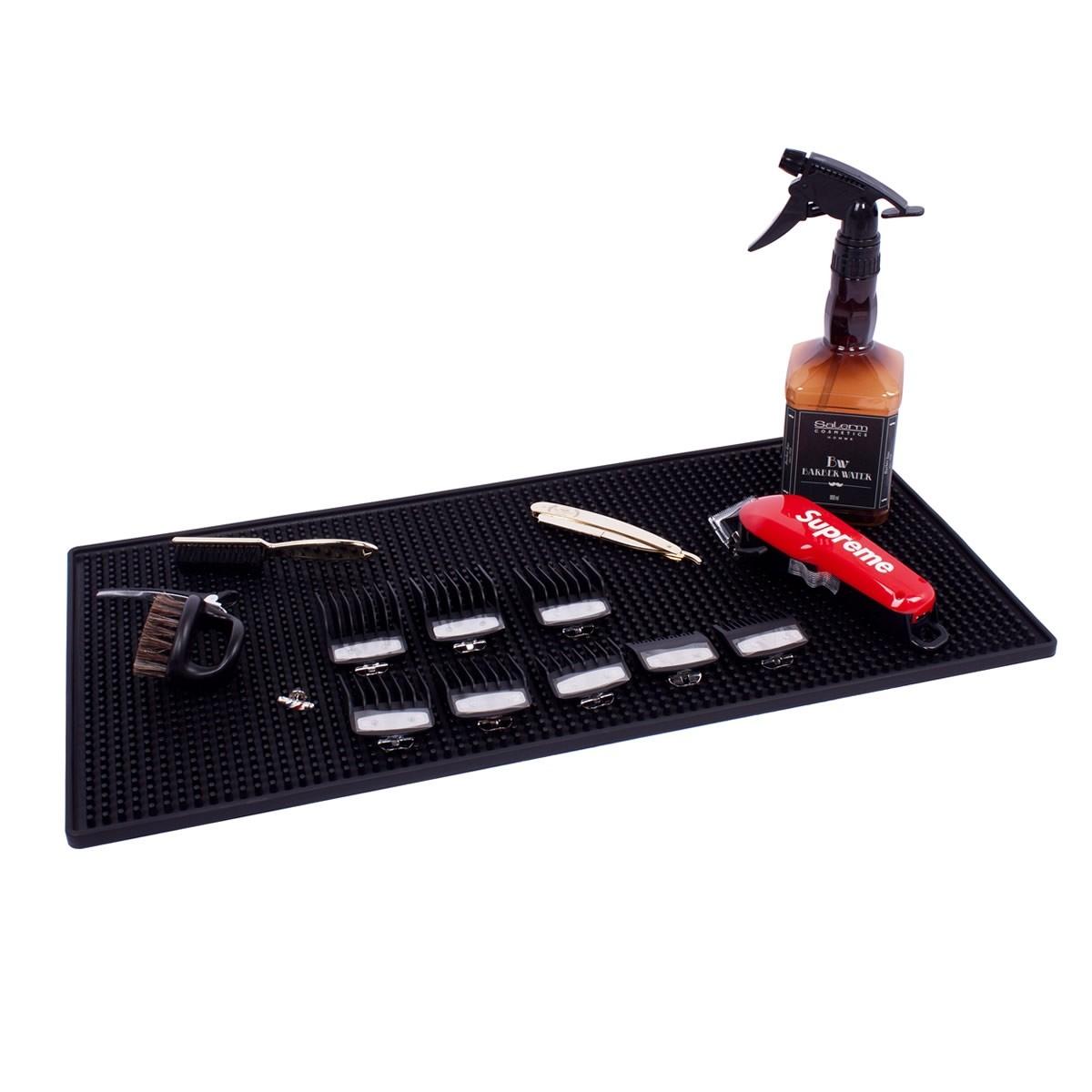 BBM-02 Barber Station Mat - Premium Black