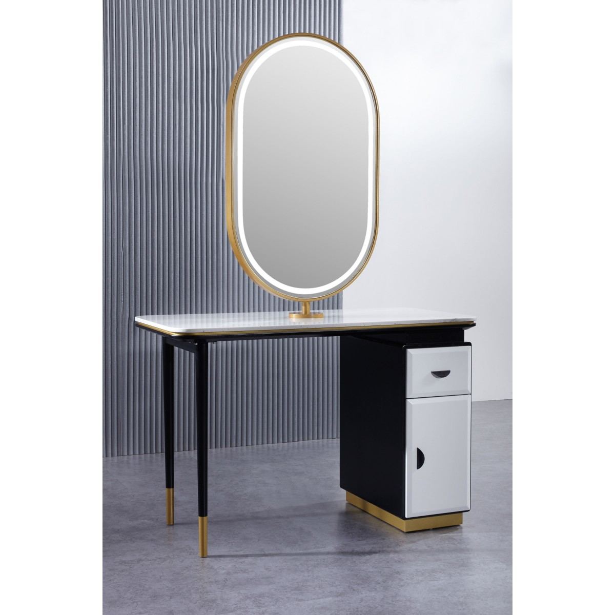 """""""DELPHI"""" Double Sided Styling Station with LED Light"""