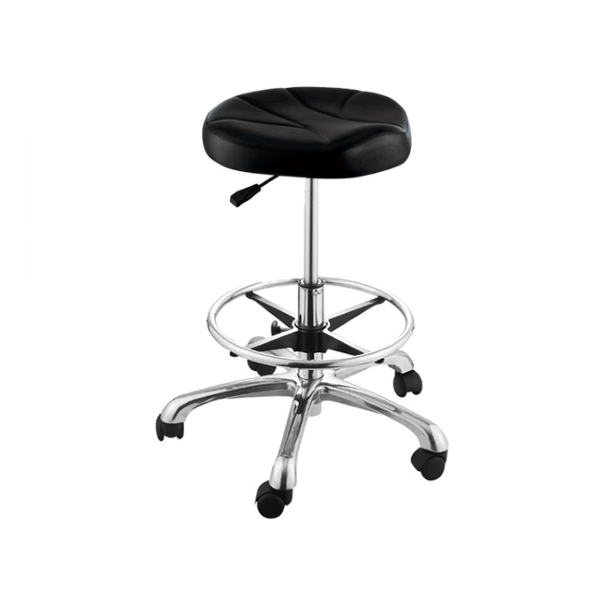 """ERATO"" Hair Salon Stool with Footrest Ring"