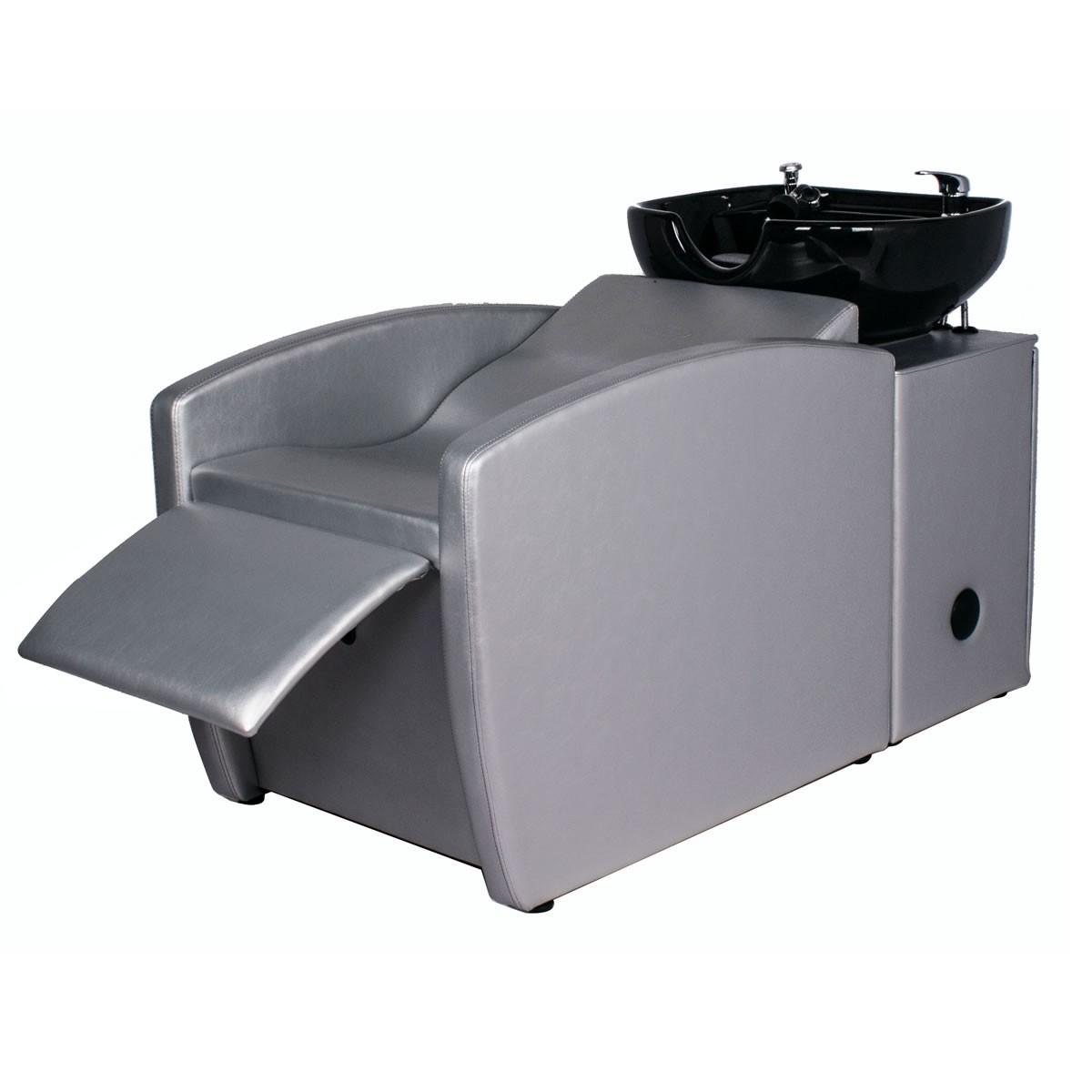 """""""RIO"""" Backwash Shampoo System in Platinum SIlver, """"RIO"""" Silver Shampoo Sink & Chair"""