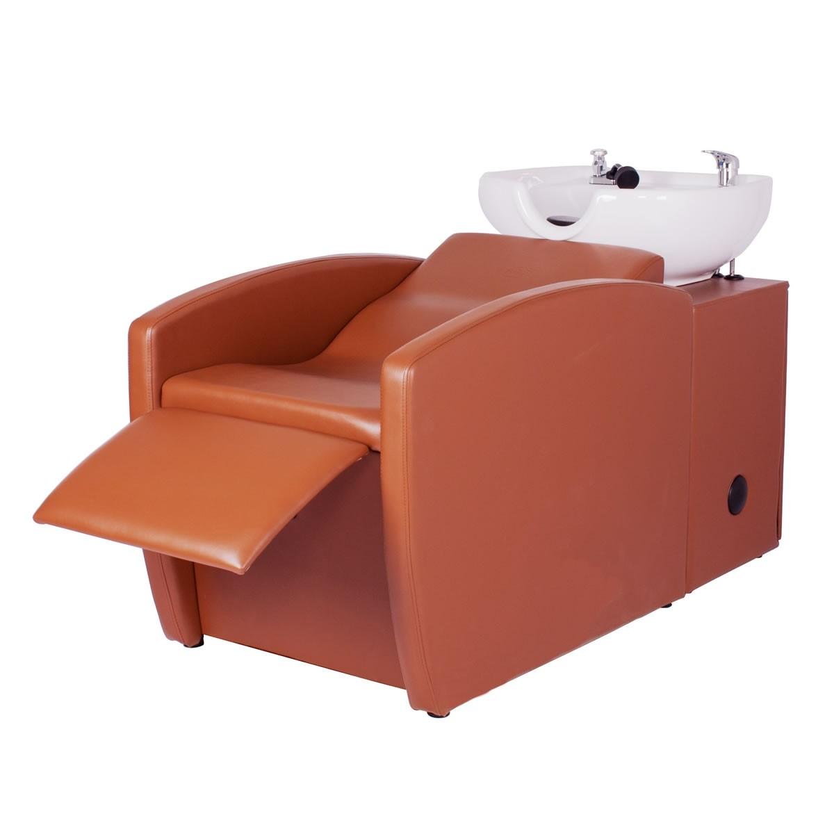 """""""RIO"""" Shampoo Backwash Unit in Chestnut"""