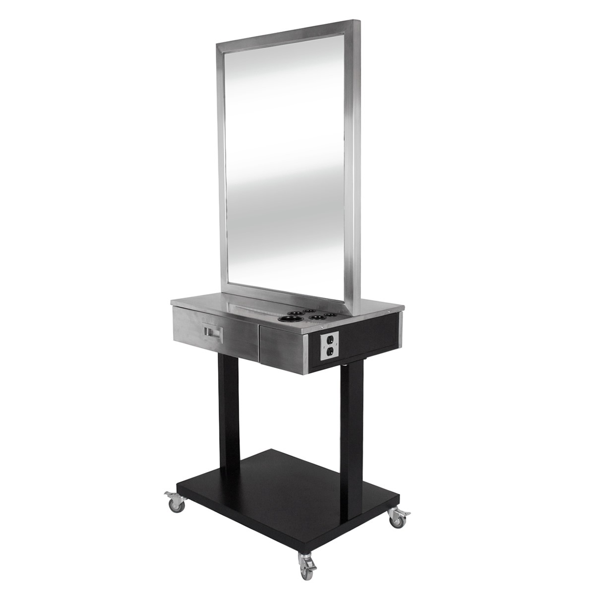 """LUMINA"" Stainless Double Sided Styling Station, Cosmetology Station, Beauty School Station"