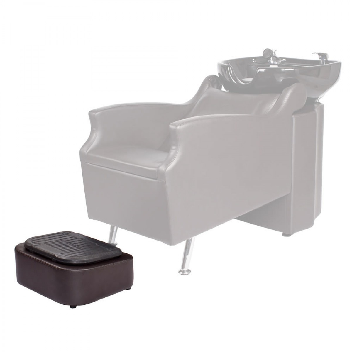 "Free-Standing Footrest for ""ISLAND"" Shampoo Backwash Unit"