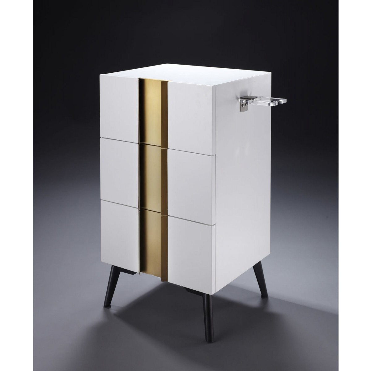 """""""JUDE"""" Side Station in White & Gold"""