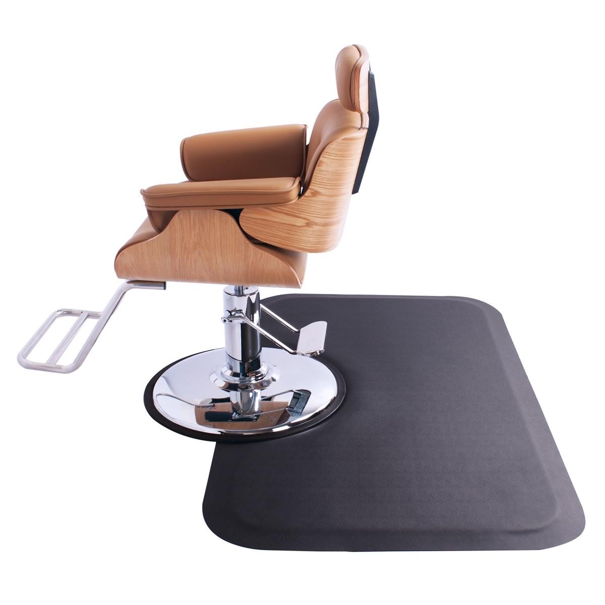 Square Salon Floor Mat for Round Base, Anti Fatigue Salon Mat, Salon Supplies