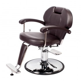 """KATHERINE"" Unisex Barber Chair in Soft Chocolate (Free Shipping)"
