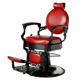 """ROMANOS"" Vintage Barbershop Chair in Cardinal Red (Free Shipping)"