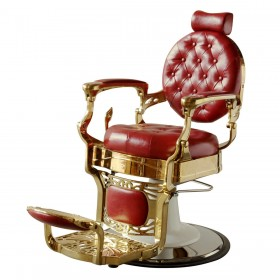 """THEODORE"" Luxury Barber Chair in Cardinal Red (Free Shipping)"