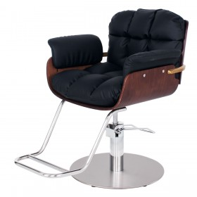 """KYOTO"" Luxury Salon Styling Chair in Soft Black (Free Shipping)"