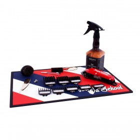 "BBM-03 Barber Station Mat, 19.7"" X 13.7"", Red, White & Blue"