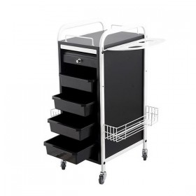 """WALKER"" Multiple Function Salon Cart (White & Black, Free Shipping)"
