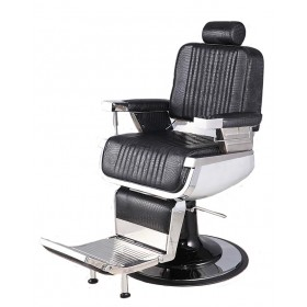 """CONSTANTINE"" Barber Chair in Black Crocodile (Free Shipping)"