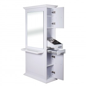 """SIENA"" Double Sided Salon Station in White (Free Shipping)"