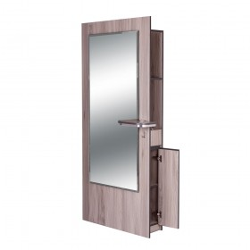 """BURANO"" Single Sided Styling Station in Grey Oak (Free Shipping)"