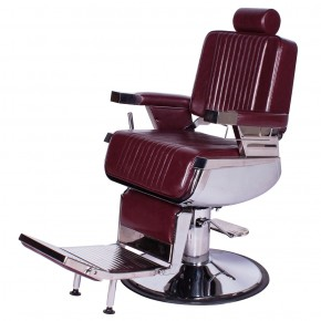 """CONSTANTINE"" Barber Chair in Dark Merlot"