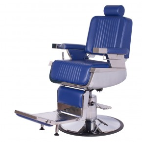"""CONSTANTINE"" Royal Blue Barber Chair - Blue Barber Shop Chairs, Blue Barber Furniture"