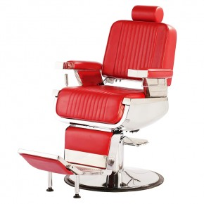 """CONSTANTINE"" Barber Chair in Red, Red Barber Chairs, Red Barbershop Chairs"