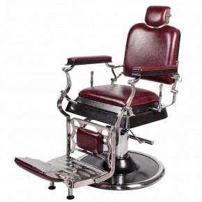 """EMPEROR"" Barber Chair in Dark Merlot, barber shop equipment, barber shop furniture"