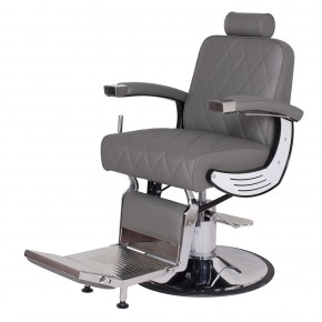 """BARON"" Grey Barber Chair, Grey Barber Shop Chairs"