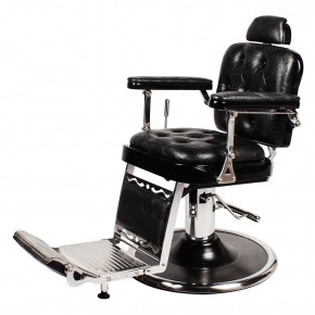 """REGENT"" Barber Shop Chair in Black Crocodile"