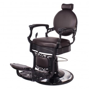 """ROMANOS"" Vintage Barber Chair in Soft Chocolate"