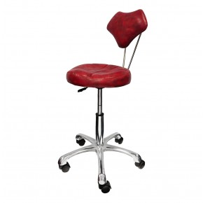 """ROSA"" Salon Stylist Stool with Alloy Base"