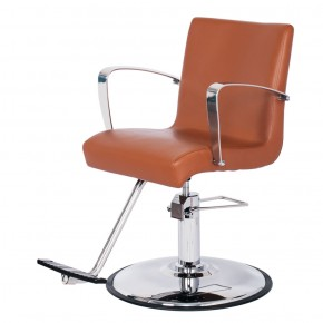 """SALLY"" Salon Styling Chair in Chestnut - ""SALLY"" Salon Equipment &  Salon Furniture"