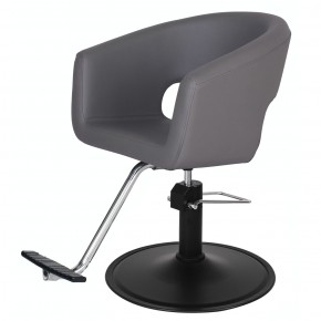 """MAGNUM"" Grey Salon Chair, Grey Styling Chair, Grey Hair Chair"