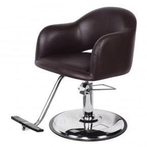 """AVILA"" Brown Salon Chair, Brown Styling Chair, Brown Hair Stylist Chair"