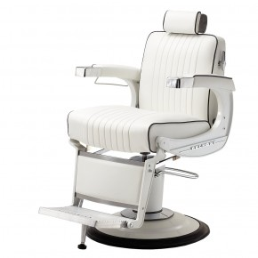 "TAKARA BELMONT B-225 ""ELITE WHITE"" Barber Chair - TAKARA Barber Chairs, BELMONT Barber Chairs"