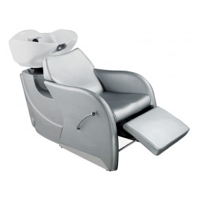 """ODESSA"" Shampoo Backwash Bowl in Silver, Salon Shampoo Sinks for Sale, Salon Shampoo Equipment Wholesale"