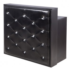 """DELAMERE"" Salon Reception Desk - Matte Black (Free Shipping)"