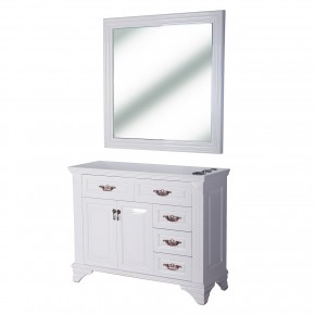 """FLORENCE"" Styling Station in Pure White, Beauty Salon Equipment Florida, Beauty Salon Furniture Florida"