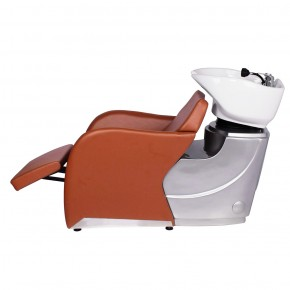 """ODESSA"" Shampoo Backwash Unit in Chestnut - Chestnut Shampoo Backwash Unit, Chestnut Backwash Shampoo System, Chestnut Shampoo Bowl"